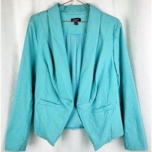 Torrid Light Teal Cutaway Blazer Jacket